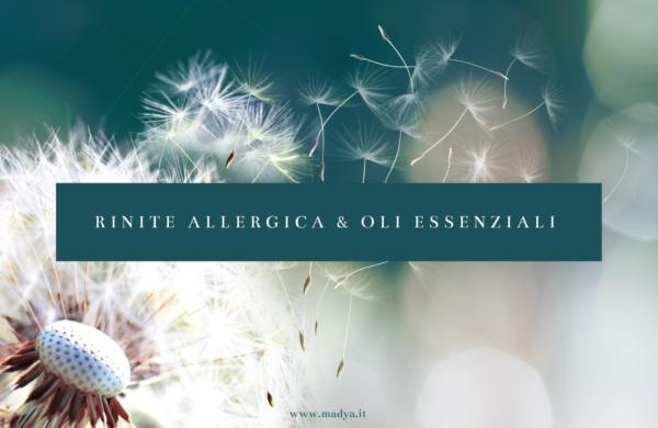 rinite allergica e oli essenziali