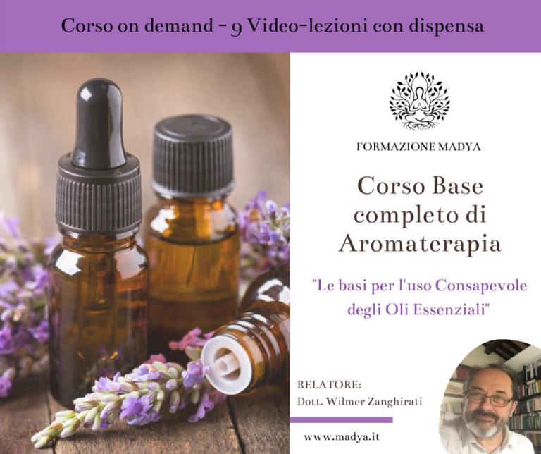 Corso Base completo Aromaterapia on demand